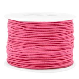 1 meter Gekleurd elastisch draad 1.5mm Azalea pink
