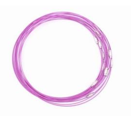 Spang lengte 46cm violet roze