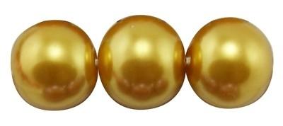 40 x prachtige glasparel kleur: Gold 6mm