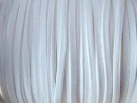 Faux suède veter,  wit 1 meter x 3mm