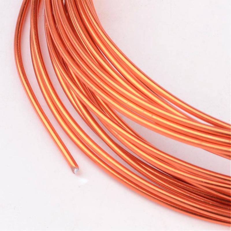 Aluminium draad 1,5mm dik, 6m/rol OrangeRed