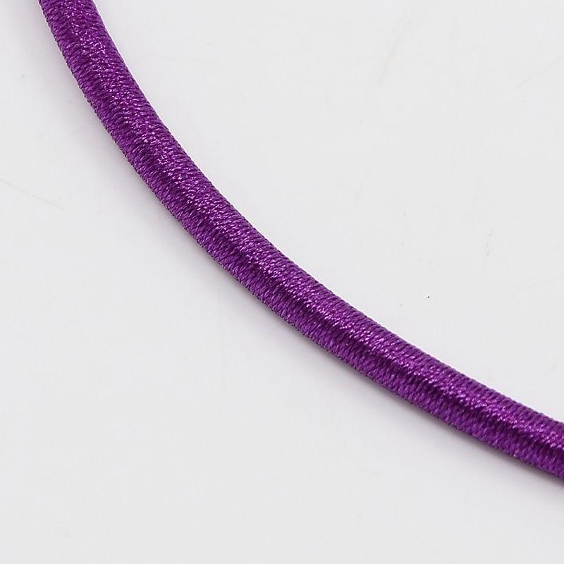 Prachtig zijden koord 3,2mm diameter, lengte c.a. 43cm incl. verlengketting  paars