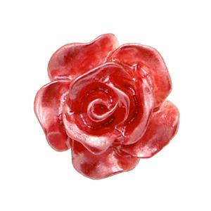 5 x Roosjes kralen 10mm Wit-precious rose pearl shine