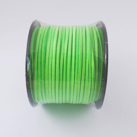 Faux suède veter, 1 meter x 3mm lime green