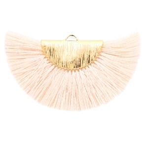 Kwastjes hanger Gold-light peach