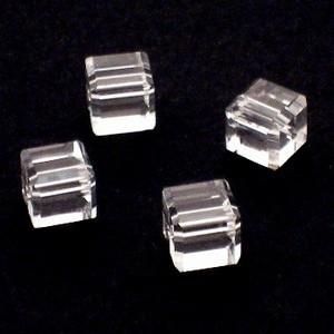 Preciosa Handgeslepen kristal kraal 8mm transparant