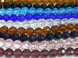 Stunt!! Schitterende strengen met c.a. 52 facet kristal kralen 6mm, keuze uit meer kleuren!
