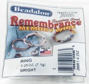 Per pak Beadalon memory wire ring (49 wendingen)