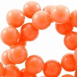 10 stuks kunststof kraal rond Coral oranje gemeleerd 8 mm