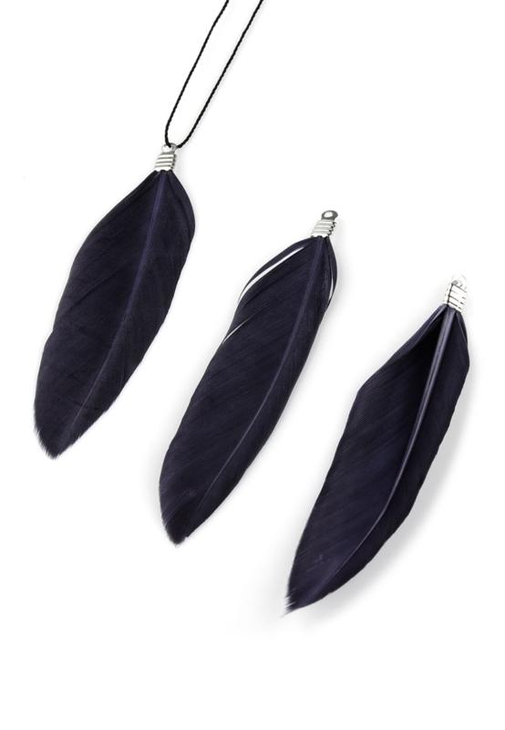 Hangers veer 70-80x12-20mm donker grijs