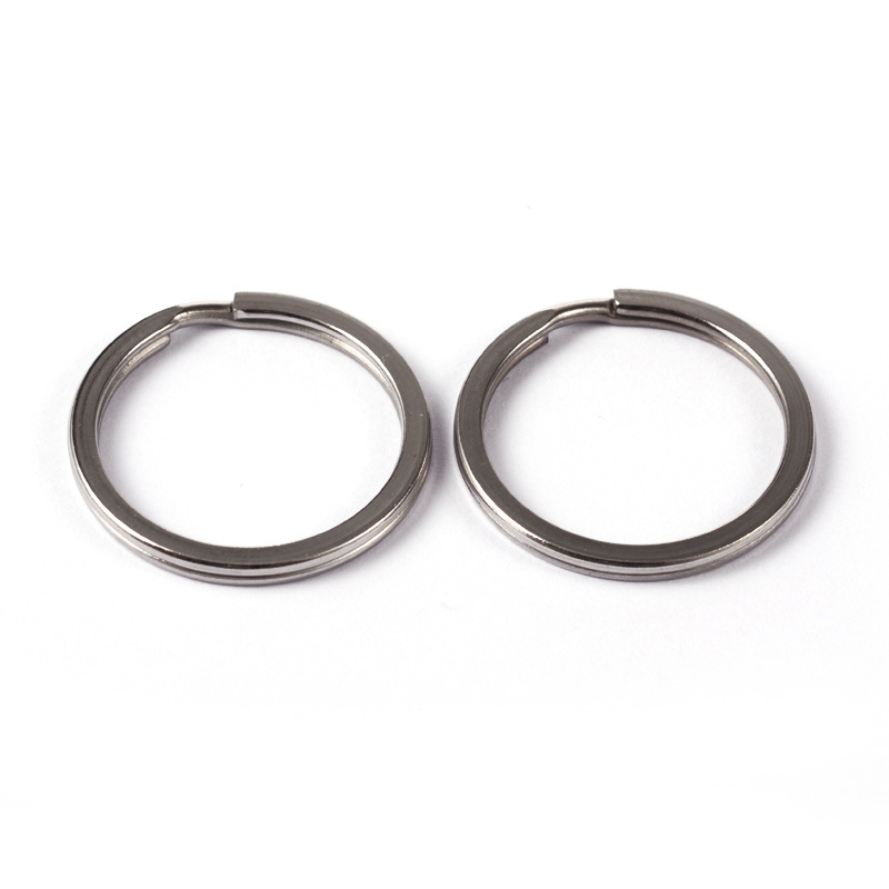5 x Sleutelhanger ring RVS Ø 25 x 2mm