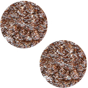 12 mm platte cabochon Polaris Elements Goldstein Smoked topaz