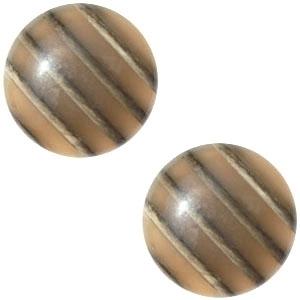 1 x Cabochon Polaris Koron 20 mm Bruin