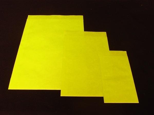 10 x Fourniturenzakje kraft geel onbedrukt 15 x 22cm nr. 3