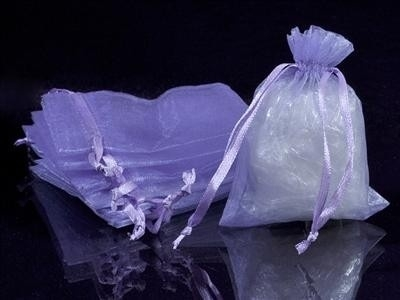 50 stuks lila organza zakjes 13 x 18cm