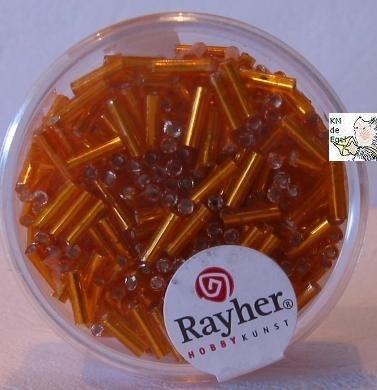 Rayher Glasstaafjes oranje 16 gram 7/2mm