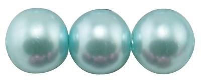 10 x prachtige glasparel kleur: Light Cyan 14mm