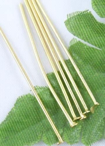 100 stuks goudkleurige nietstiften 30 mm