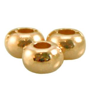 DQ metalen ring / kraal plat 5 x 3.3 mm Goud (nikkelvrij)
