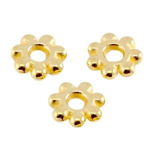 10 x  DQ metaal kraal spacer Bali ring 5.6mm Goud (nikkelvrij)