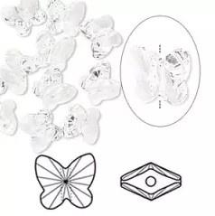 Swarovski kristal  facet kraal vlinder 7 x 7x 5mm gat 1mm clear