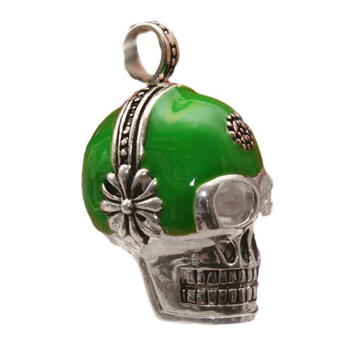 Kettinghanger Headset skull 925 Sterling Zilveren Hanger 33gram  45 x 28mm