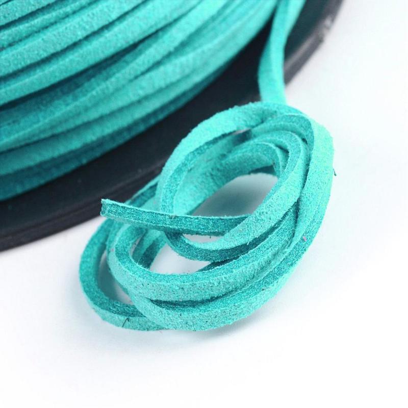 Faux suède veter turquoise 1 meter x 3mm