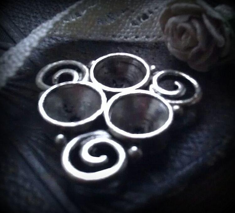 Per stuk antiek zilveren metalen tussenzetsel spiralen 22 mm
