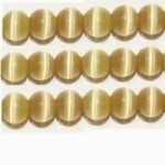 20 stuks prachtige cateye kralen 4mm licht bruin-beige