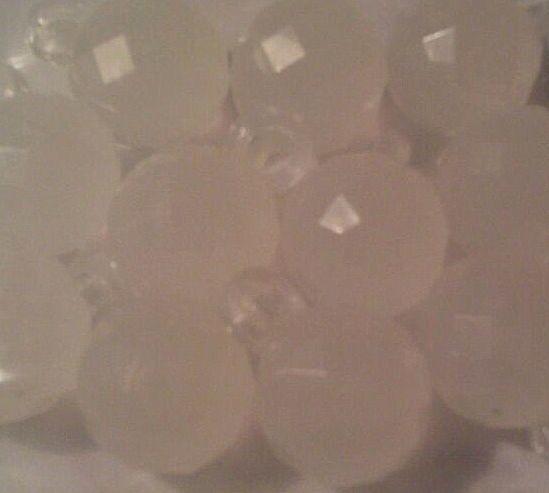 15 Stuks Acryl facetkraal hanger wit 17 x 12 x 12mm Gat: 3mm