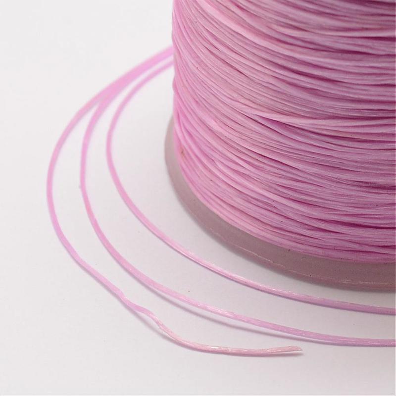 5 meter rond elastisch draad 0,2mm pink