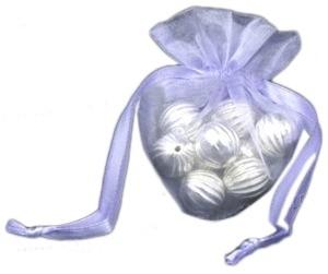 20 stuks luxe  hartvormige organza zakjes 10cm x 8.75cm Lila