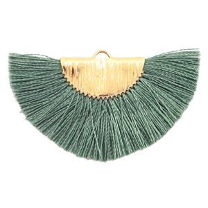 Kwastjes hanger Gold-army green