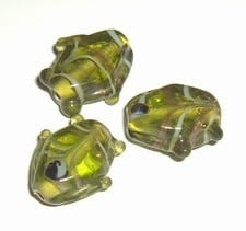 10 x Glaskraal vis 18x17mm