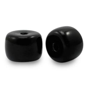 10 x rondellen glaskralen Black  8mm