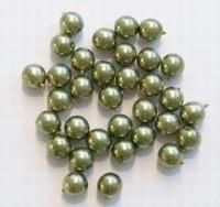 20 x Glasparel Olijf-groen 6 mm