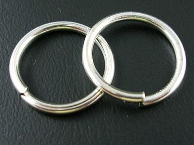 10 stuks verzilverde ringetjes 16mm zilver 1,5mm dik