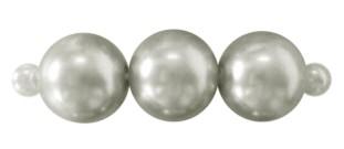 50 x prachtige glasparel kleur: zilver 3mm