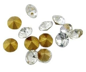 10 stuks Puntsteen Preciosa voor puntsteen  c.a. 2mm Crystal