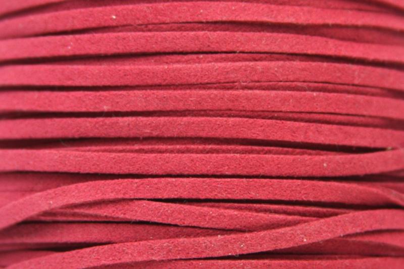 Faux suède veter,  Oranje/Roze 1 meter x 3mm