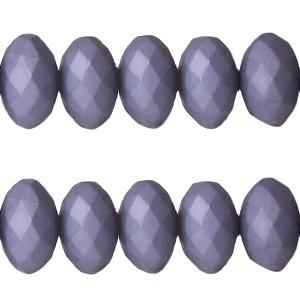 20 stuks acryl facet kralen disc 8 x 6 mm Purple haze blue