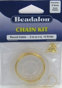 Per stuk Beadalon chain kit gold 0,9mm