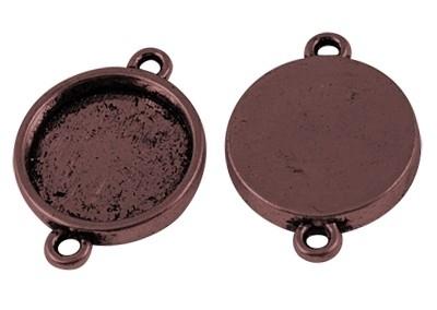 2 x Houder O: Prachtige Camée of Cabochon houderrood koper kleur. Binnenzijde: 15mm