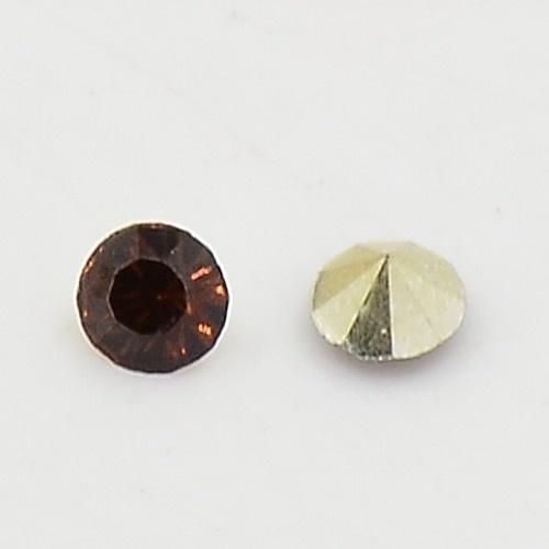 10 stuks Puntsteen Preciosa voor puntsteen 9924 c.a. 3,5mm Coffee