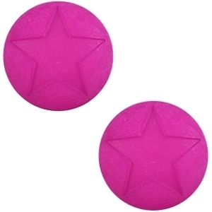 3 x Polaris cabochon ster matt 20 mm Purple orchid