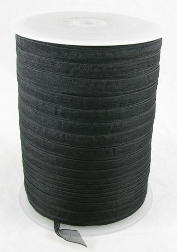1 meter organza lint 6mm zwart