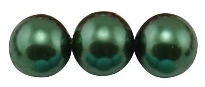 20 x prachtige glasparel kleur: DarkGreen 12mm