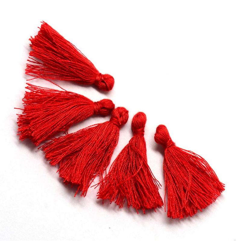 Kwastje rood c.a. 3cm