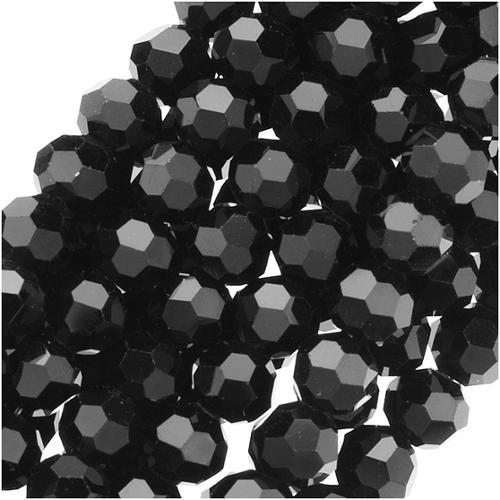 30 stuks facetkralen 4mm zwart