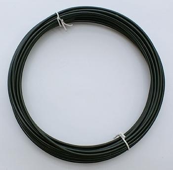 Aluminium draad 2mm dik, 6m/rol zwart